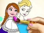 Elsa ve Anna Boyama Kitabı Oyna