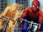 Spiderman Bisiklet Oyna