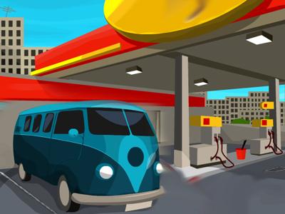 Benzinlik Park Oyna