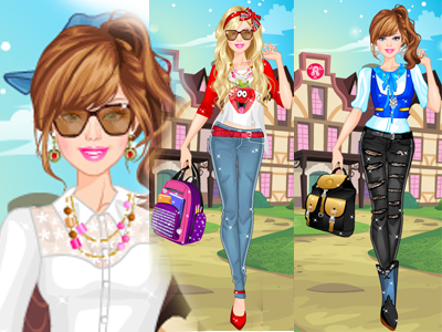 Kolejli Barbie Giydirme Oyna