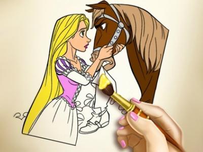 Rapunzel Boyama Oyunu Oyna